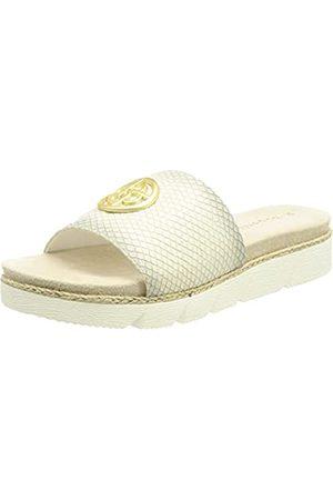 Bugatti Damen 431673905800 Sandale, offwhite/reptile print