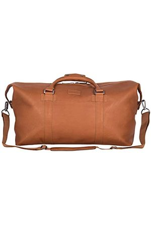 "Kenneth Cole Unisex-Erwachsene I Beg To Duff-er' Full-Grain Colombian Leather Top Zip 20"" Carry-On Duffel Travel Bag Seesack"