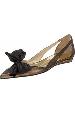 Kenneth Cole New York Damen Bow-Cal Flach, Gold (Bronze)