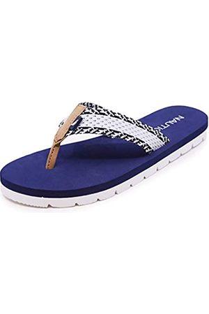 Nautica Damen Flip Flop Sandalen - Komfort Slipper Soft Cushion Thong Slide, (Wolfie-Marineblau/ )