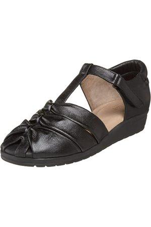 BeautiFeel Damen Parma Sandalen, Schwarz (schwarzes Leder)