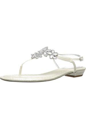 NINA Keegan-YS Damen-Sandalen, Weiß (elfenbeinfarben)