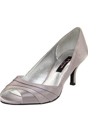 NINA Criana Peep-Toe Pumps für Damen, (Royal Silver)