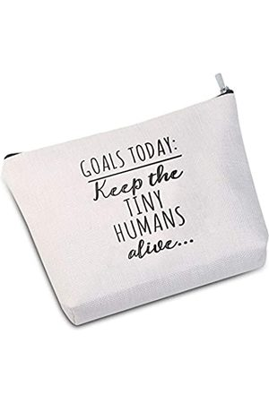 "JXGZSO Kosmetiktasche für Mütter, Muttertagsgeschenk, ""Goals Today Keep the Tiny Humans Alive"", Kosmetiktasche, Geschenk für Ehefrau, Kindertagesstätte, Lehrer"
