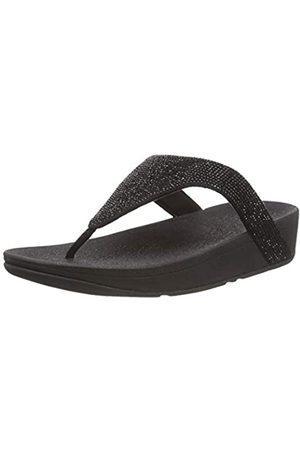 FitFlop Damen LOTTIE TOE POST - SHIMMERCRYSTAL Flache Sandale, (Black)