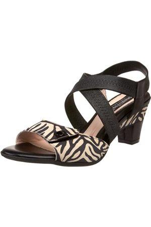 BeautiFeel Damen Aurore Pumps mit offenem Zehenbereich, Mehrere (Black Zebra Wildleder-Kombination)