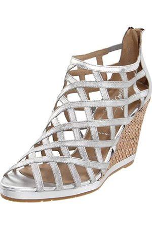 Donald J Pliner Maida2 Damen-Sandalen mit Keilabsatz, (Silberfarben/metallisch elastisch)