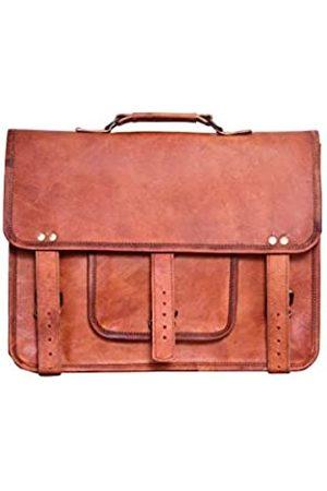 LLB Leather Arts Leder Brown Messenger Bag 15 Zoll 04