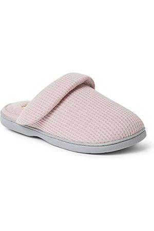 Dearfoams Womens Eleanor Waffle Knit Scuff Slipper
