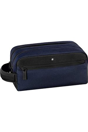 Mont Blanc Wash Bag with 2 zips Blue-Black