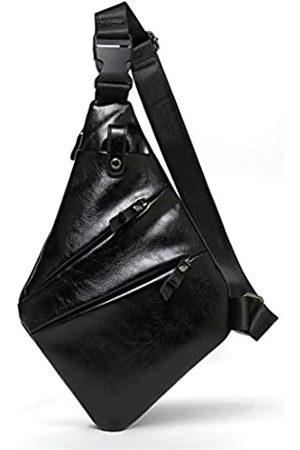 Baliya Brusttasche Herren Umhängetasche Messenger Bag Wasserdicht Einfache Naht umweltfreundliche PU Casual Taschen