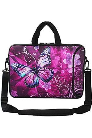 Violet Mist Laptop-Schutzhülle, Neopren, wasserdicht, mit verstellbarem Schultergurt, für Damen und Herren, 33 cm 38,1 39,6 38