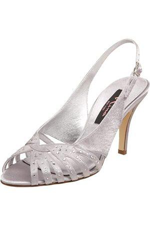 NINA Damen Fortune Slingback, (Royal Silver)