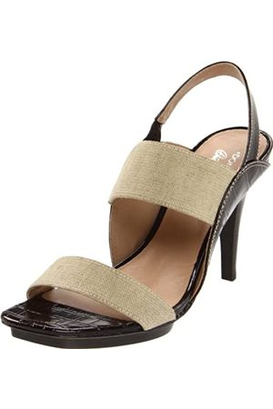 Donald J Pliner Damen Nika High Heel Sandalen, Beige (Virgin/Expresso/Basic Elastic/Kogi)