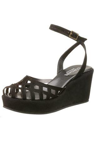 Cordani Dawson Damen Sandalen mit geschlossener Zehenpartie, Schwarz (Schwarze Velourslederoptik)