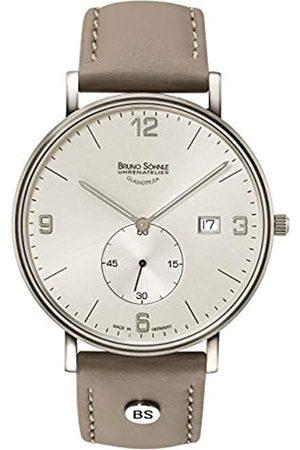 Soehnle Bruno Söhnle Herren Analog Quarz Uhr mit Leder Armband 17-13187-261