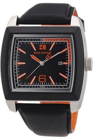 HUGO BOSS Boss Orange Herren-Armbanduhr Analog Leder 1512603