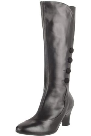 BeautiFeel Damen Anna Kniehohe Stiefel, Schwarz (Kombination aus schwarzem Leder/Lack)