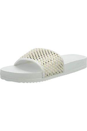 flip*flop Damen Sandalen - Damen Pool Check Sandalen, White/Silver