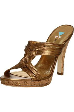 Daniblack Damen Witty Slide Sandalen, Gold (Bronze)