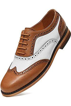 FRASOICUS Damen Oxfords Brogue Leder Flügelspitze Schnürschuhe flach formelle Hochzeitskleid Schuhe für Mädchen Damen, ( / )