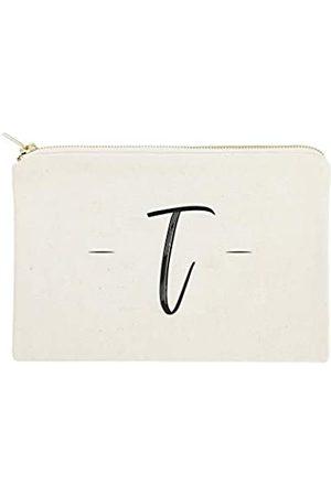 The Cotton & Canvas Co. Personalisierte handgeschriebene Monogramm-Kosmetiktasche und Reise-Make-up-Tasche