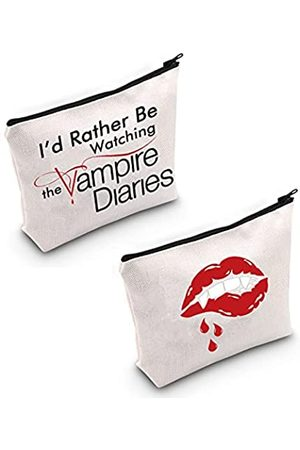 "TSOTMO Make-up-Tasche mit Aufschrift ""I'd Rather Be Watching The Vamp Diaries"""