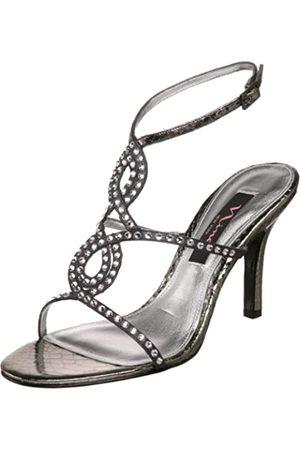 NINA Venita Damen-Sandalen mit T-Riemen, (Schiefer/Rotguss)