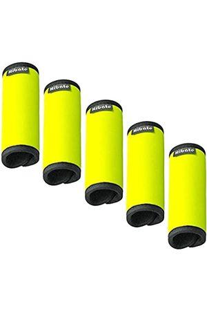 Hibate Unisex-Erwachsener Comfort Neopren Gepäck Griff Wrap Grip - Fluoreszierende Farbe Einheitsgröße Packung mit 5- fluoreszierend