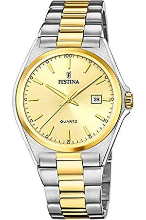 Festina Herren Analog Quarz Uhr mit Edelstahl Armband F20554/3