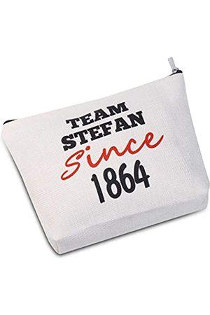 JXGZSO Kosmetiktasche Team Damon / Stefan / Salvatore since 1864, Vampir-Fandom Make-up-Tasche