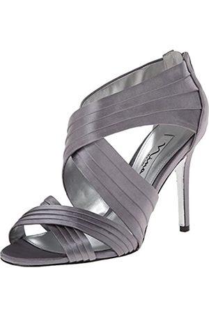 NINA Damen Melizza Kleid Sandale, Silber (Metallstaub)