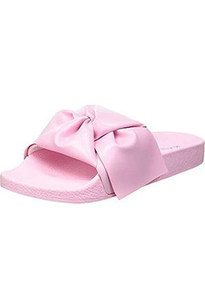Kaltur Damen Pink Bow Pool Slide Flipflop