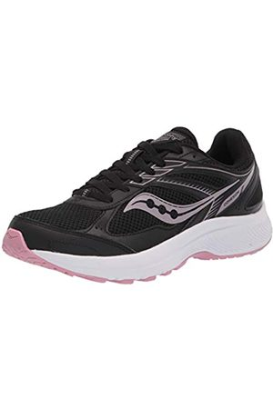 Saucony Women's Cohesion 14 Running Shoe, Black/Pink