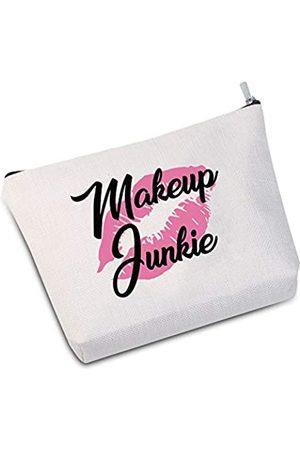 JXGZSO Makeup Junkie Kosmetiktasche Make-up-Liebhaber Geschenk Liebe für Make-up
