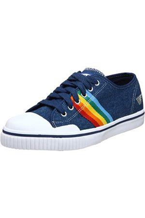 Gola Damen Rainbow Denim Sneaker, Mehrere (Regenbogen Denim)
