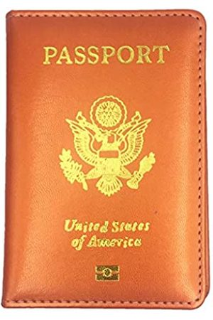 Pakala66 PU Leather Passport Cover with Gold USA Logo Printed for Travel (N-GD- )