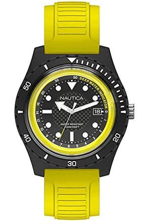 Nautica Herren Analog Quarz Uhr mit Gummi Armband NAPIBZ003