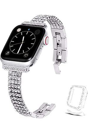 Xybuluerq Uhren - Kompatibel mit Apple Watch Band 38 mm 40 mm 42 mm 44 mm + Hülle