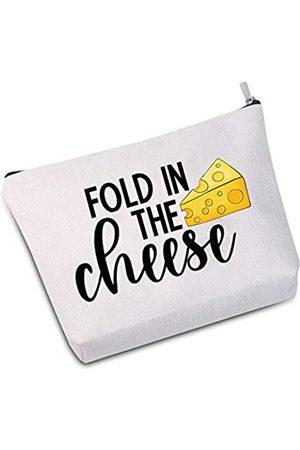JXGZSO Fold In The Cheese Kosmetiktasche, Make-up-Tasche