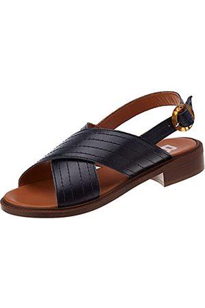 Bensimon Damen Sandale Plate CROISEE Hausschuh