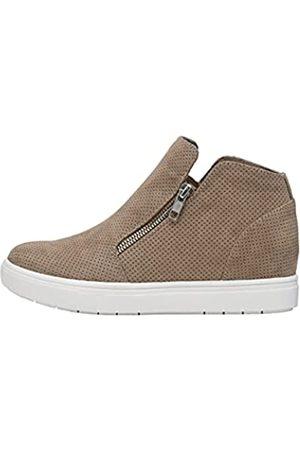 CUSHIONAIRE Hart Damen Sneaker mit verstecktem Keilabsatz und breiter Weite erhältlich, (taupe)