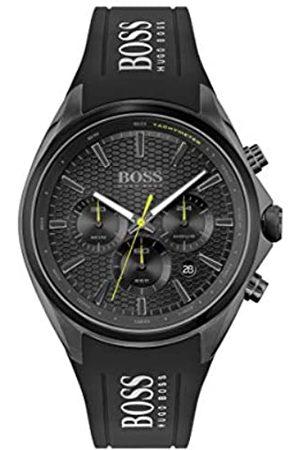 HUGO BOSS Herren Analog Quarz Uhr mit Silicone Armband 1513859