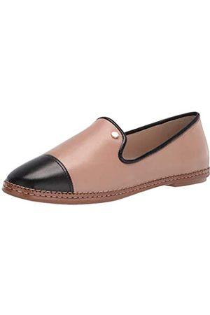 Cole Haan Damen CLOUDFEEL All Day Loafer Slipper, Brush Sheep Proze/Black Sheep Proze/Black Grosgrain/Dark Nat Leather