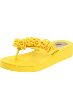 NINA Hilaria-YS Damen-Sandalen mit Keilabsatz, Gelb (Canary)