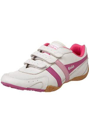 Gola Damen Calibre Schnürschuh Fashion Sneaker, (Ecru/Fuchsia/Pink)