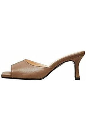 SELECTED Female Sandalen Quadratische Schuhspitze Leder 39Chocolate Chip