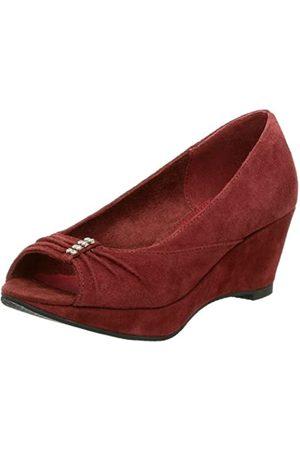 BC Footwear Damen Cherries Jubilee Wedge, Rot (burgunderfarben)