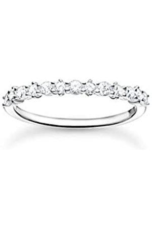 Thomas Sabo Filigraner Ring, 925 Sterlingsilber, besetzt mit weißen Zirkonia Steinen, Ringgröße 54