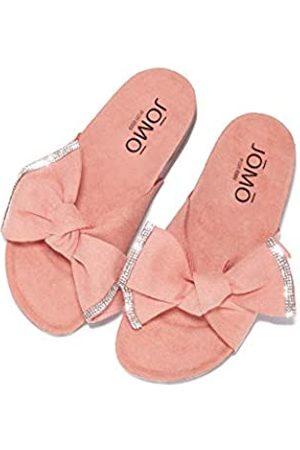 Cape Robbin Jomo Pomelo flache Sandalen für Damen, Pantoletten, Pink (korallenrot)